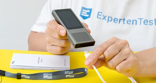 Langogo Minutes Sprachübersetzer und Diktiergerät im Test - max. Einzelaufnahmezeit: 4 Stunden; Audio-Speicherkapazität: 13 Stunden