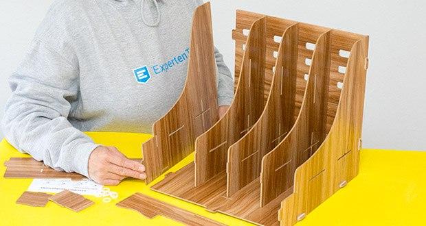 Lesfit Holz Stehsammler für Schreibtisch im Test - aus Holz gefertigt