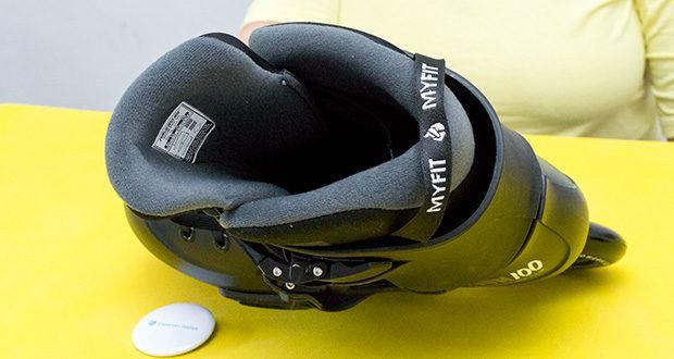 Powerslide Inlineskates Zoom Pro Black 100 im Test - Innenschuh: MYFIT Recall Dual Fit Liner