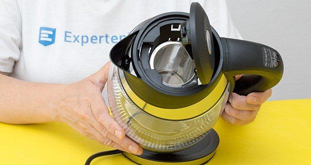 STEPLER LED-Glas-Wasserkocher 1,8 Liter im Test - integriertes Teesieb