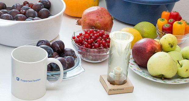 Dr. Reckhaus Fruchtfliegen-Retter mit Nachfüller im Test - Retter in unmittelbarer Nähe von Befallsorten, z.B. Fruchtschale, aufstellen