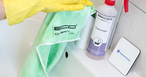 ECO-Clean by LcM Mikrofasertuch im Test - hohe Saugkraft