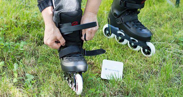 Powerslide Inlineskates Zoom Black 80 im Test - mit einem wärmeverformbaren Innenschuh ausgestattet