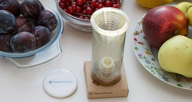 Dr. Reckhaus Fruchtfliegen-Retter mit Nachfüller im Test - Pro Raum (bis max. 25 m2) einen Retter verwenden