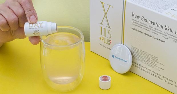 X115+Plus Skin Care Set im Test - hohe Konzentration an Kollagen und Anti-Aging-Wirkstoffen