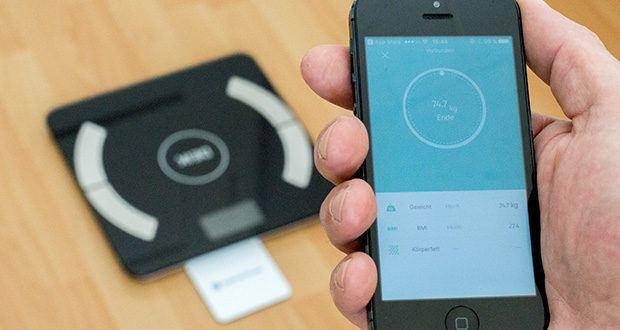 """Deik Bluetooth Körperfettwaage im Test - die gratis """"DEIK FIT"""" App ist einfach zu bedienen und kann aus dem Apple Store oder Google Play heruntergeladen werden"""