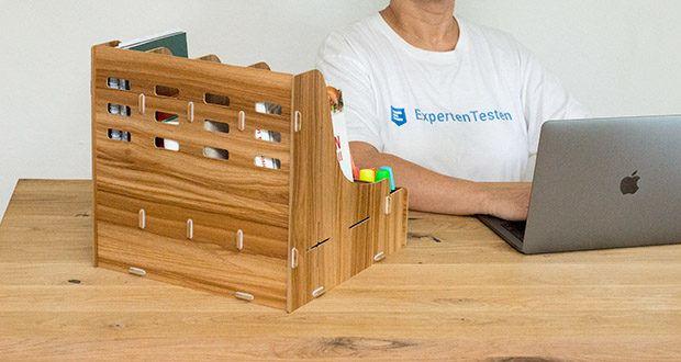 Lesfit Holz Stehsammler für Schreibtisch im Test - robust, langlebig und umweltfreundlich