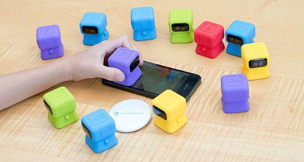 Tangiplay Coding Spielzeug im Test - bei den App-Spielen müssen die Kinder ihre Roboter einsetzen, um neue Eisenbahnen zu bauen, den Zug aufzuladen, Hindernisse zu überwinden und Fahrgäste an ihr Ziel zu schicken