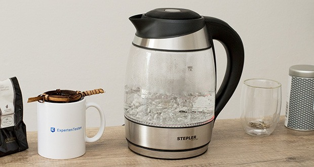 STEPLER LED-Glas-Wasserkocher 1,8 Liter im Test - vollständig BPA-frei, komfortabel & pflegeleicht