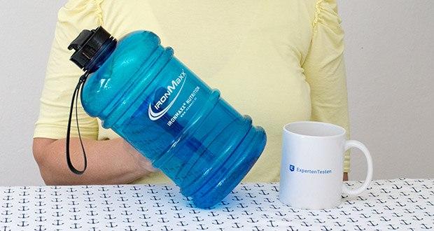 GIronMaxx Trinkflasche im Test - Große XL - deckt den empfohlenen Wasserbedarf eines Erwachsenen pro Tag