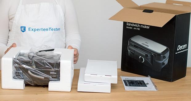 Decen Sandwichmaker im Test - bietet 3 abnehmbare Grillplatten (Sandwich, Waffel und Grillplatten)