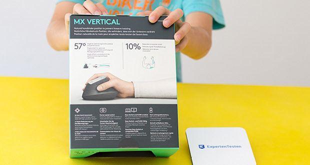 Logitech MX Vertical Bluetooth Maus im Test - wurde nach den Kriterien führender Arbeitswissenschaftler entwickelt und getestet