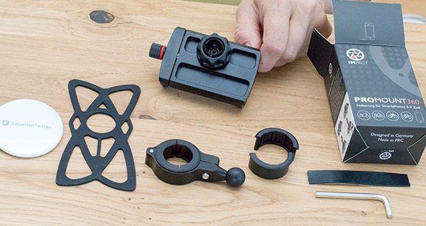 Pro Mount 360 Fahrrad Handyhalterung im Test - hergestellt aus einer Aluminiumlegierung aus dem Flugzeugbau