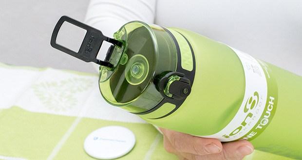 Ion8 Sportflasche im Test - Flips öffnen mit einer Hand, und können zur Sicherheit Lock geschlossen