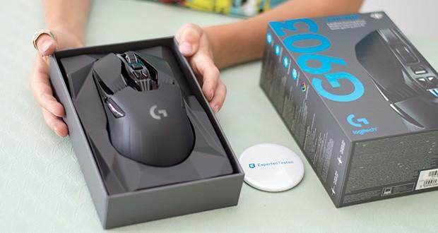 Logitech G903 LIGHTSPEED kabellose Gaming-Maus im Test - durch das metallene Federspannungssystem können die linke und rechte Primärtaste mit weniger Kraft ausgelöst werden und gewährleisten dadurch jedes Mal ein außerordentlich geschmeidiges Tastengefühl, Reaktionsschnelligkeit und Konsistenz