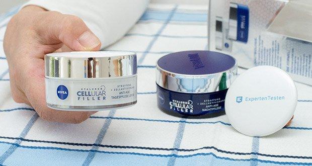NIVEA Hyaluron Cellular Filler Anti-Age Tag & Nacht Set im Test - die Tagespflege versorgt die Haut mit Feuchtigkeit und mildert Falten