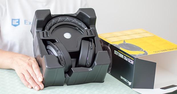 Corsair HS70 Pro Wireless Gaming Headset im Test - Akkulaufzeit von bis zu 16 Stunden und lässt Sie 7.1-Surround-Sound an Ihrem PC genießen