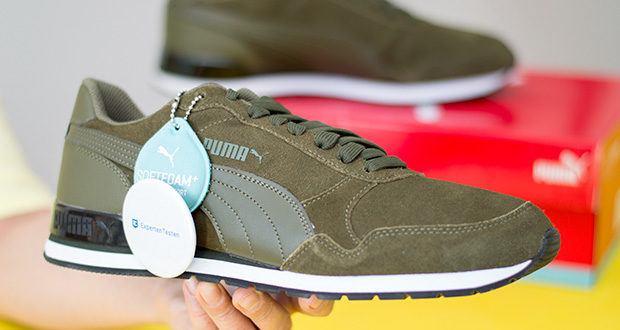PUMA ST Runner V2 SD Sneaker im Test - das klassische Obermaterial aus Premium-Wildleder mit Puma formstrip aus Leder bietet einen klassischen Stil