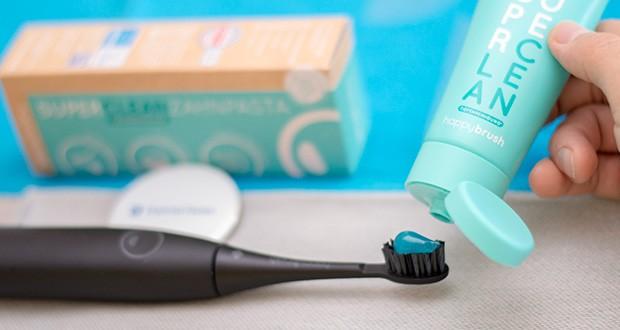 happybrush Zahnpasta SUPERCLEAN im Test - mit Xylitol & Zink; vegan und ohne Mikroplastik