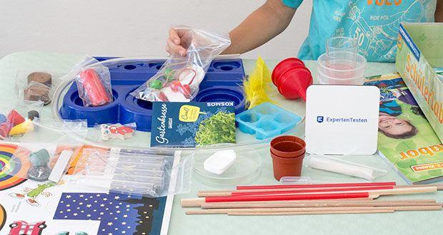 KOSMOS Schülerlabor Experimentierkasten im Test - vielseitiges Material und anschaulich bebilderte Versuchsanleitungen passend für Grundschulkinder