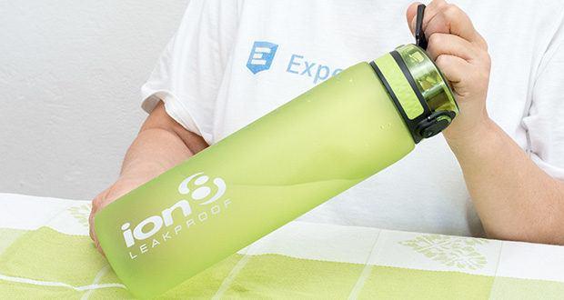 Ion8 Sportflasche im Test - Außenwände mit Soft-Touch-Gefühl bieten eine verbesserte Kratzfestigkeit