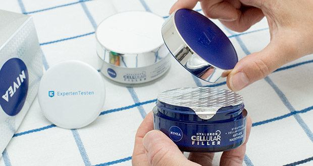 NIVEA Hyaluron Cellular Filler Anti-Age Tag & Nacht Set im Test - Inhaltsstoffe Nachtpflege: Aqua, Glycerin, Cetearyl Alcohol, Ethylhexyl Cocoate, Methylpropanediol, Caprylic/Capric Triglyceride, Hydrogenated Coco-Glycerides, Butyrospermum Parkii Butter, Glyceryl Stearate Citrate, Panthenol, Macadamia Integrifolia Seed Oil, Polymethylsilsesquioxane, Magnolia Officinalis Bark Extract, Creatine, 1-Methylhydantoin-2-Imide, Sodium Hyaluronate, Dimethicone, Carbomer, Trisodium EDTA, Ethylhexylglycerin, Sodium Hydroxide, Phenoxyethanol, Limonene, Linalool, Citronellol, Benzyl Alcohol, Geraniol, Alpha-Isomethyl Ionone, Parfum