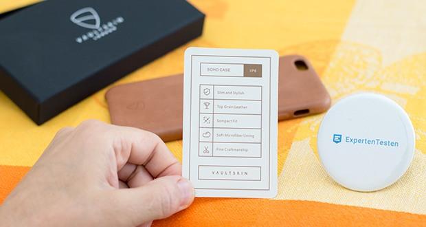 Vaultskin iPhone 6/6S SOHO Schutzhülle im Test – die robuste Innenschale SOHO Bumper Case ist mit hochwertigem Leder bezogen