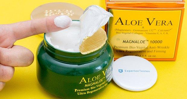 Canarias Cosmetics Magnaloe 10000 Antifaltencreme im Test - zum Auftragen auf Gesicht und Hals