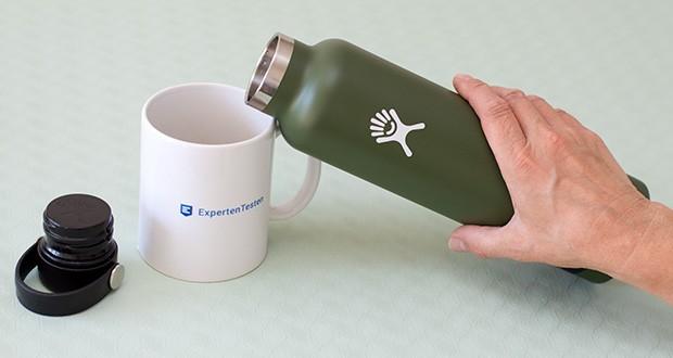 Hydro Flask Trinkflasche im Test - Pulverbeschichtung sorgt für eine griffige, schweißfreie und besonders langlebige Flasche