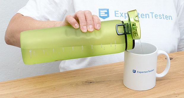 Ion8 Sportflasche im Test - der reibungslose, verschüttungsfreie Flüssigkeitsfluss