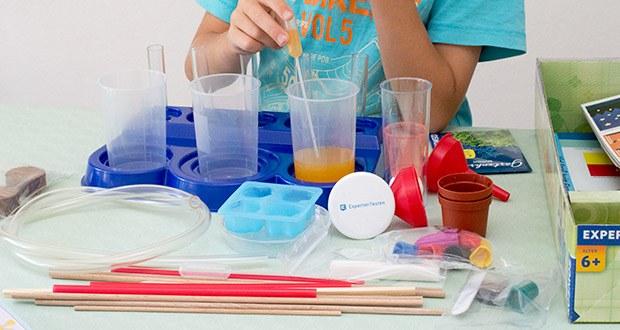 KOSMOS Schülerlabor Experimentierkasten im Test - spannende und vielseitige Materialien und Experimente motivieren die Kinder immer wieder aufs Neue, sich auf Forschungsreise zu begeben