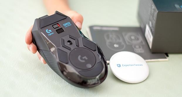 Logitech G903 LIGHTSPEED kabellose Gaming-Maus im Test - mit Sensor der nächsten Generation mit 1:1-Abtastung, 400+ IPS und einer maximalen Empfindlichkeit von 100–16.000 DPI