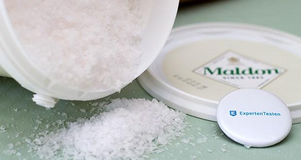 Maldon Sea Salt Flakes Meersalzkristalle im Test - keiner der bitteren Nachgeschmack, dass einige Salze verlassen