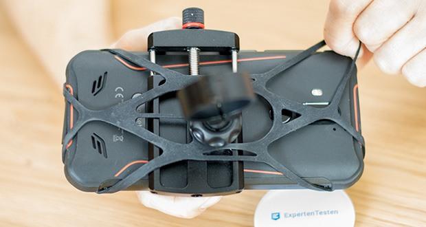 Pro Mount 360 Fahrrad Handyhalterung im Test - durch die Anti-Vibrations Pads ist ihr Smartphone immer perfekt geschützt