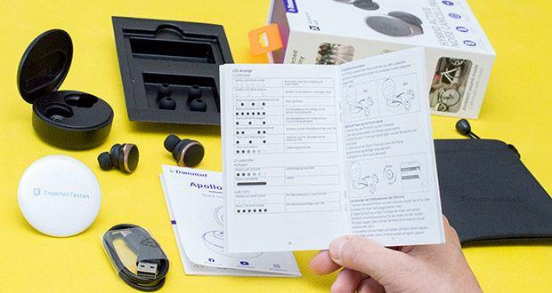 Tronsmart Apollo Bold Bluetooth Kopfhörer im Test - mit den One-Touch-Steuerungsfunktionen können Sie den Sprachassistenten aktivieren, Musik abspielen / anhalten, Anrufe entgegennehmen / ablehnen, die Lautstärke einstellen und Titel wechseln usw.