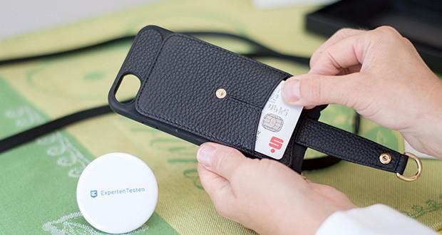 Vaultskin Victoria iPhone 7/8 Plus Hülle im Test - mit dem innovativen und stylischen Vaultskin VICTORIA verwahren Sie alle Ihre wichtigsten Dinge - Telefon, Karten, Bargeld und Schlüssel – in einer kompakten und modischen Hülle
