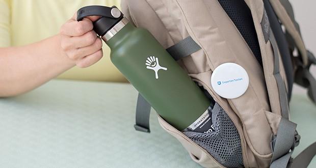 Hydro Flask Trinkflasche im Test - passt dabei aber problemlos in einen Rucksack, eine Seitentasche oder den Tassenhalter im Auto