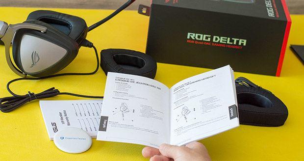 ASUS ROG Delta Gaming Headset im Test - verfügen die Treiber über einen breiten Frequenzgang von 20Hz-40kHz, um unglaublich kräftige Bässe und einen optimierten Gaming-Sound zu liefern