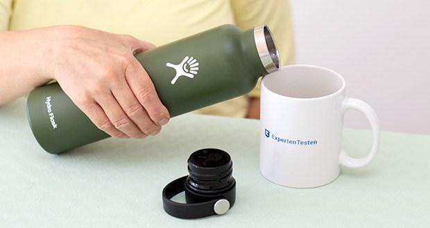 Hydro Flask Trinkflasche im Test - mit Standard-Öffnung und Flex Cap kannst du stets mit eisigen Temperaturen rechnen