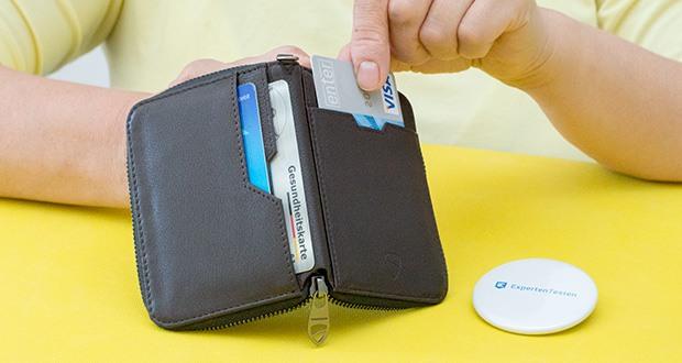 Vaultskin Notting Hill Geldbörse im Test - geeignet für bis zu 12 Karten plus Bargeld, Münzen und Kleinigkeiten wie Schlüssel, Speicherkarte und SIM Karte