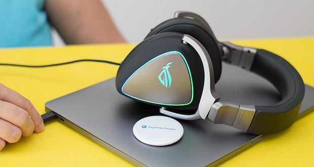 ASUS ROG Delta Gaming Headset im Test - mit der anpassbaren Aura-RGB-Beleuchtung