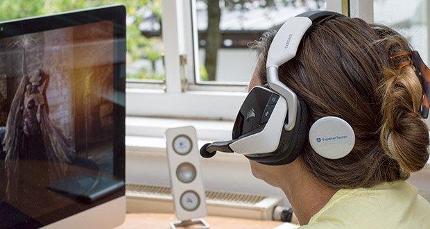 Corsair Void Elite RGB Gaming Headset im Test - erstklassigen speziell abgestimmten hochdichten 50-mm-Neodym-Lautsprechertreibern mit einem Frequenzbereich von 20 bis 30.000 Hz entgeht Ihnen nichts mehr