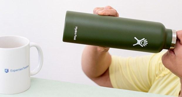 Hydro Flask Trinkflasche im Test - robuster 18/8-Edelstahl hält dein Lieblingsgetränk frisch und unverfälscht, ohne Aroma- oder Geruchsreste