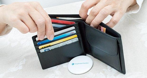 KRONIFY Herren Geldbörse im Test - RFID und NFC-Schutz für alle Fächer
