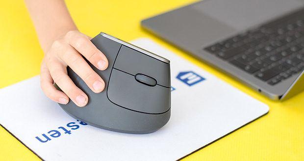 Logitech MX Vertical Bluetooth Maus im Test - wiederaufladbarer Akku mit Schnellladung