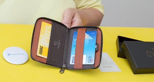 Vaultskin Notting Hill Geldbörse im Test - zuverlässiger RFID-Schutz (13,56 MHz RFID / NFC-Standard)