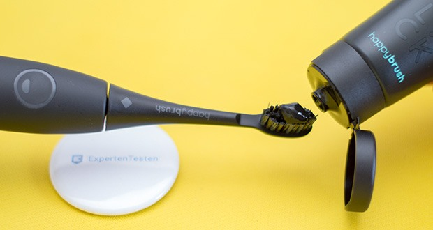 happybrush Schallzahnbürste VIBE 3 All Black im Test - mit schwarzen Aktivkohle-Borsten