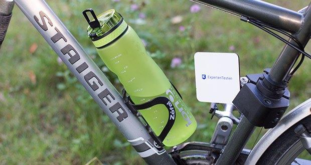Ion8 Sportflasche im Test - passt für die meisten Fahrradflaschenkäfige