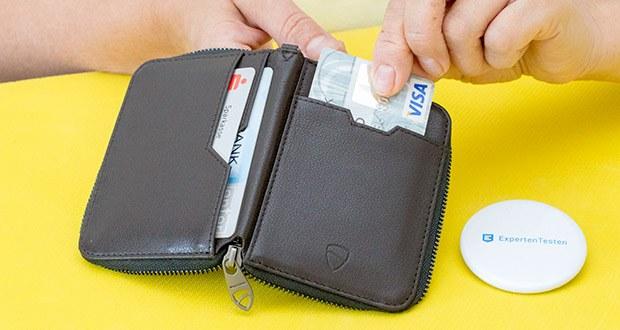 Vaultskin Notting Hill Geldbörse im Test - handgefertigt aus italienischem Luxusleder mit RFID-blockierung von Vaulzkin