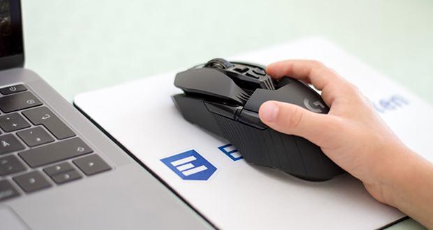 Logitech G903 LIGHTSPEED kabellose Gaming-Maus im Test - die G HUB Gaming-Software ermöglicht das Anpassen von 7–11 programmierbaren Maustasten